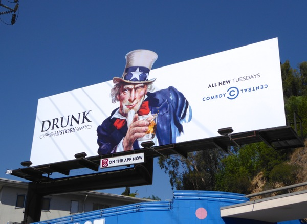 Drunk History season 3 Uncle Sam parody billboard