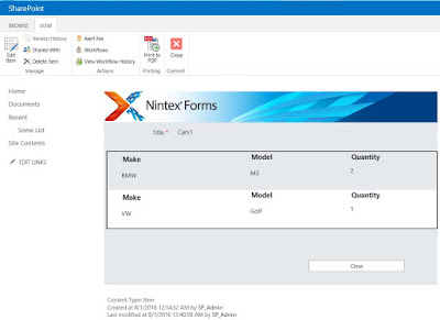Nintex Repeating Section  Form