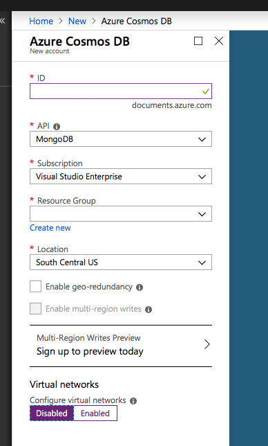 ASP NET Core Identity with Cosmos DB (MongoDB) Part1