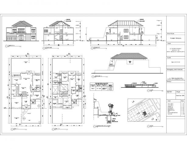 contoh gambar denah rumah untuk imb 1