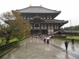 Nara in the rain.