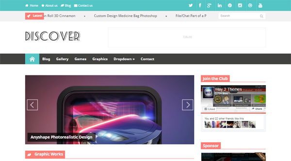 Discover Blogger Template