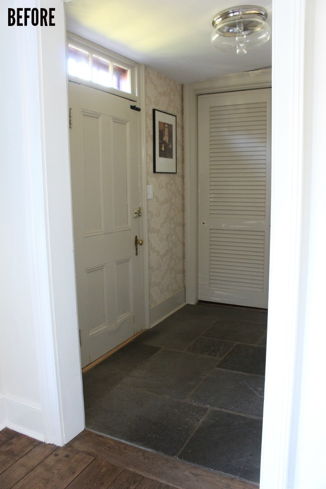 farmhouse back foyer before
