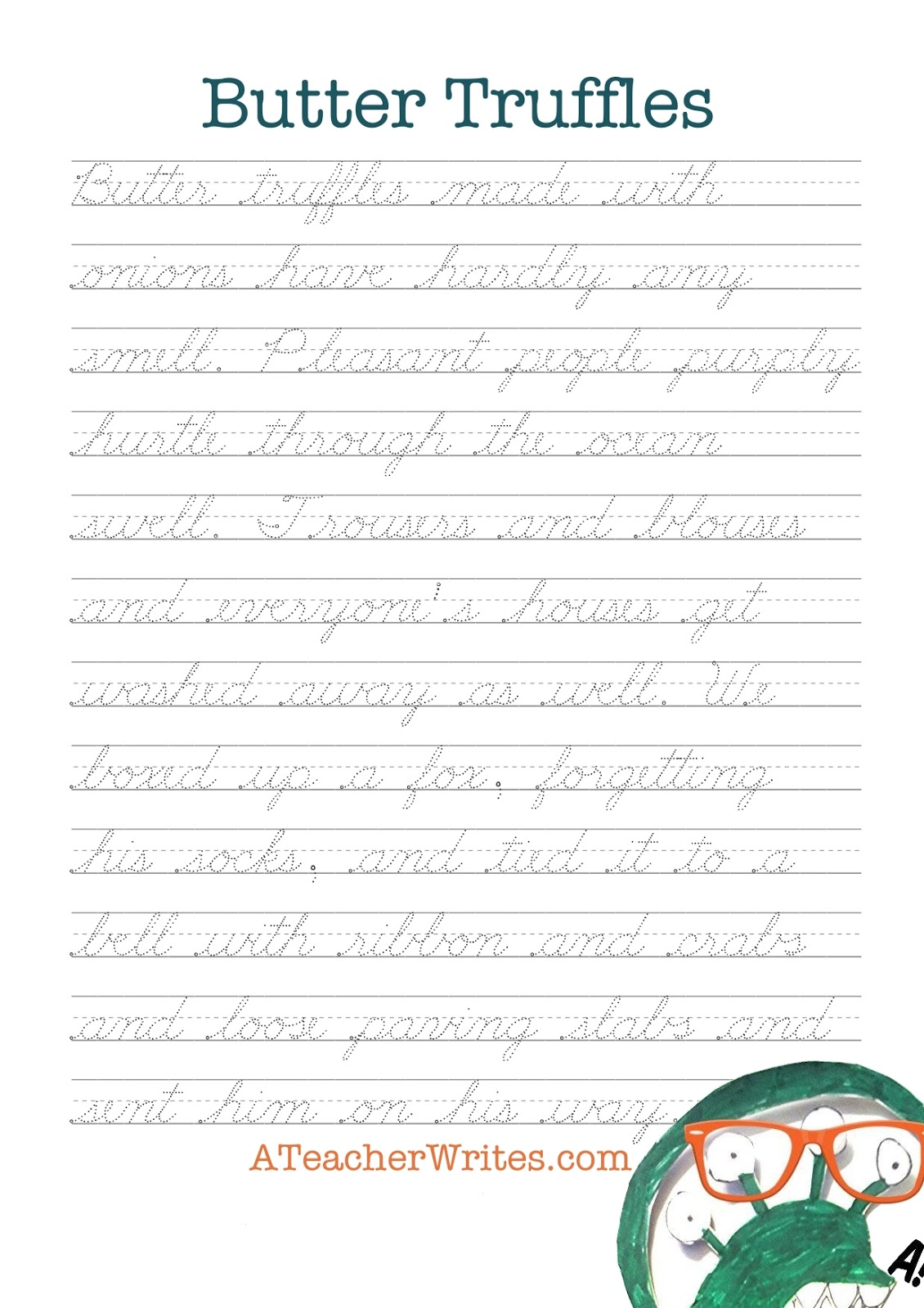 Curvelearn Free Handwriting Worksheets With Video