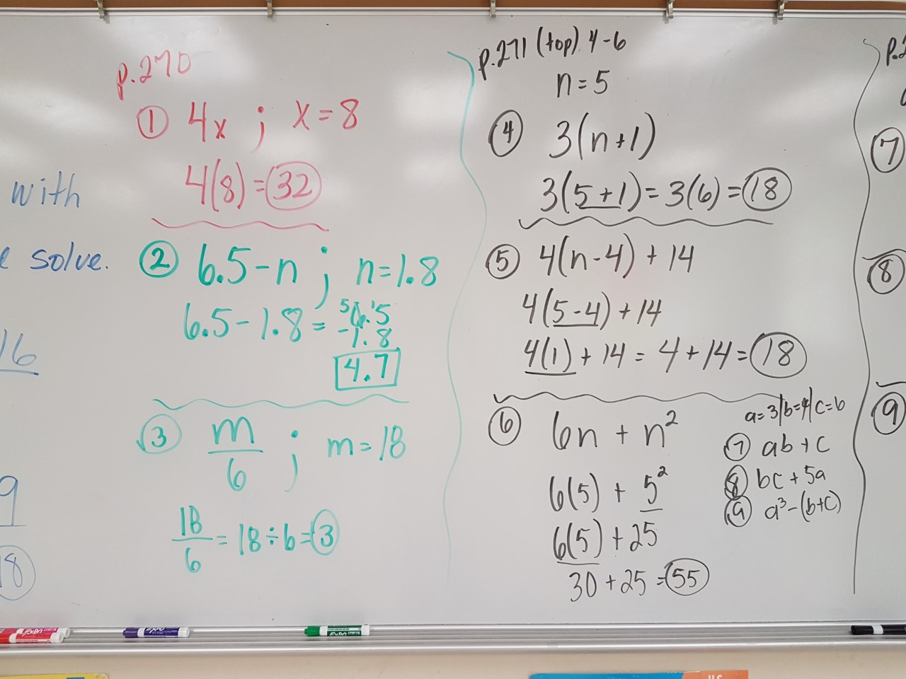 Working with Expressions and Equations Part 1