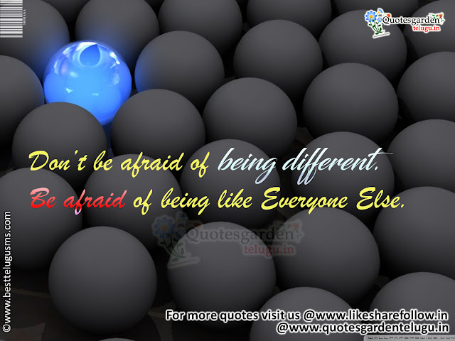 Being different quotes inspirational messages