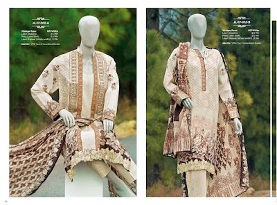 Summer collection of lawn dresses 2017 by Junaid Jamshed