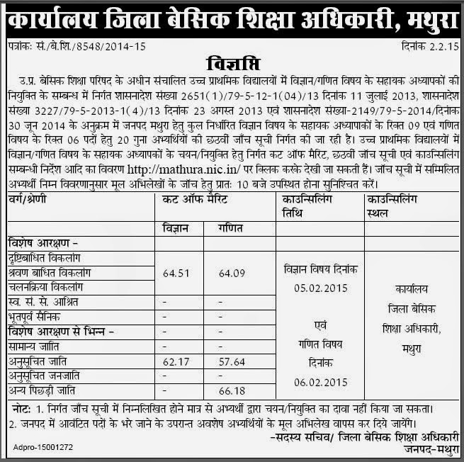 mathura 7th cut off