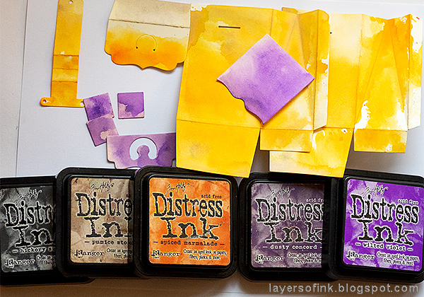 Layers of ink - Waterfall Video Tutorial by Anna-Karin Evaldsson, inking paper with distress inks.