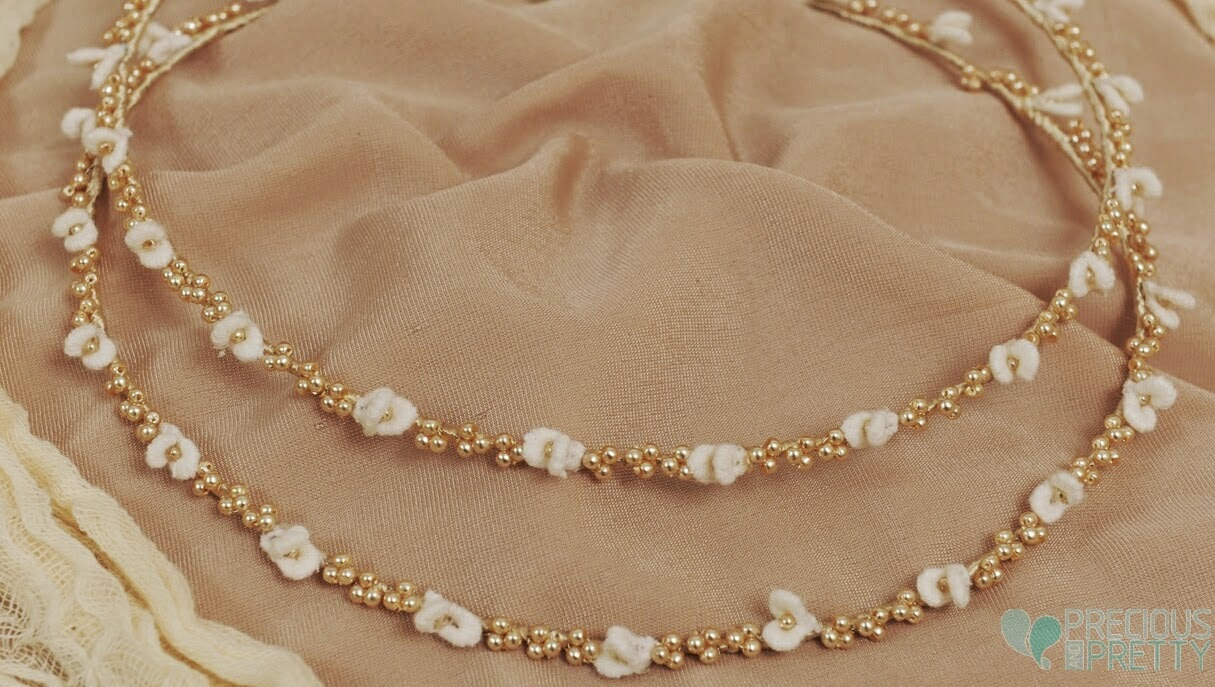 Wedding crowns with pearls and flowers