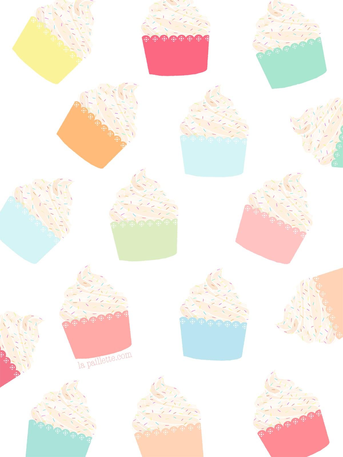 fonds d 39 cran cupcakes mac iphone ipad la paillette blog rennes claire illustratrice. Black Bedroom Furniture Sets. Home Design Ideas