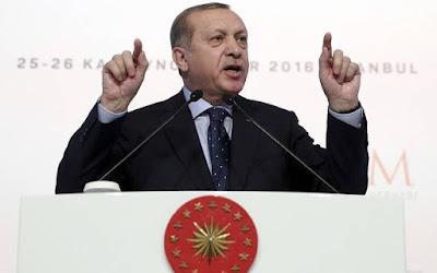 """El presidente turco, Recep Tayyip Erdogan, ha instado a """"todos los musulmanes"""" para defender Jerusalén de Israel y presentarse a la causa palestina, golpeando una postura firme y criticar a Israel a pesar de la recientemente mejoradas relaciones entre los dos países."""