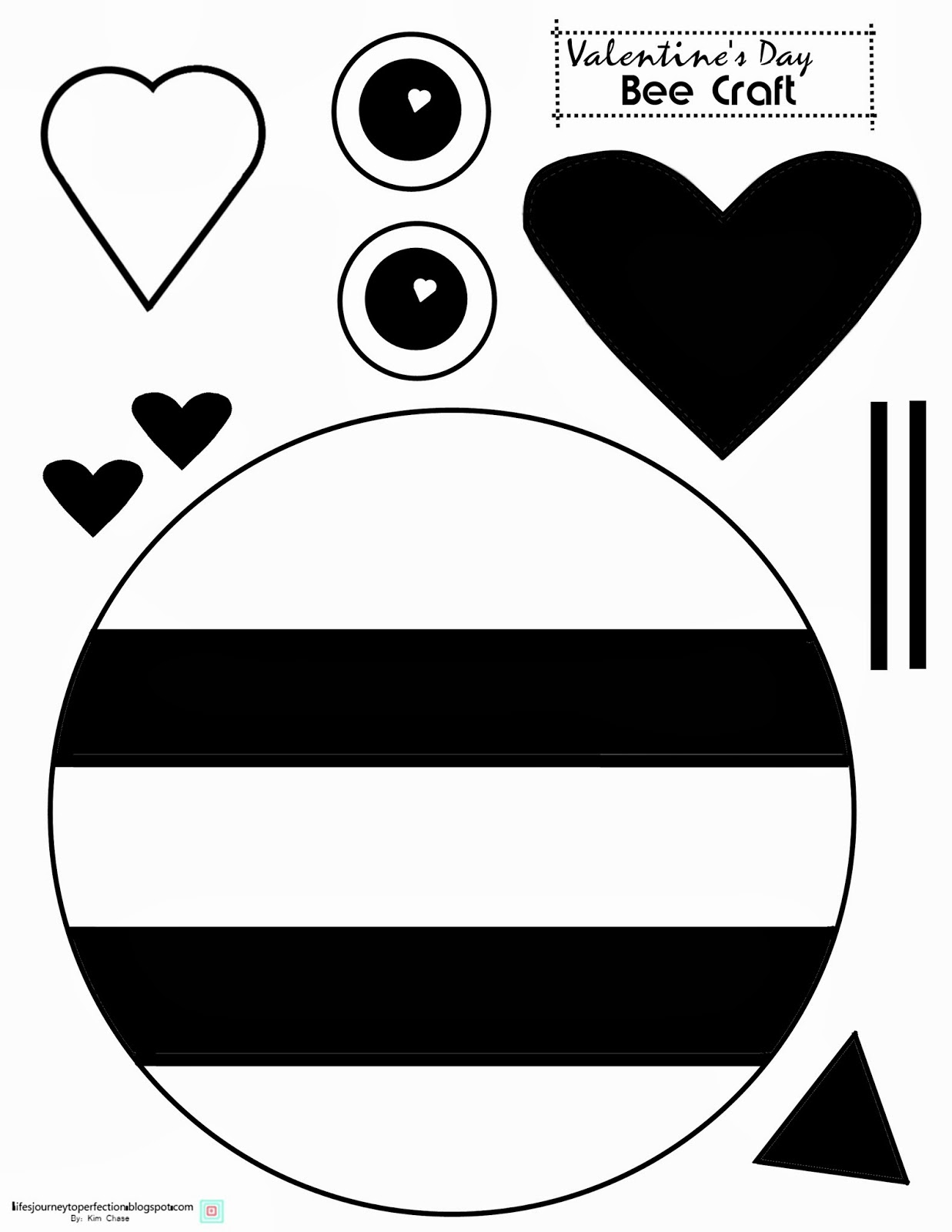 life 39 s journey to perfection valentine 39 s day bee craft printable. Black Bedroom Furniture Sets. Home Design Ideas