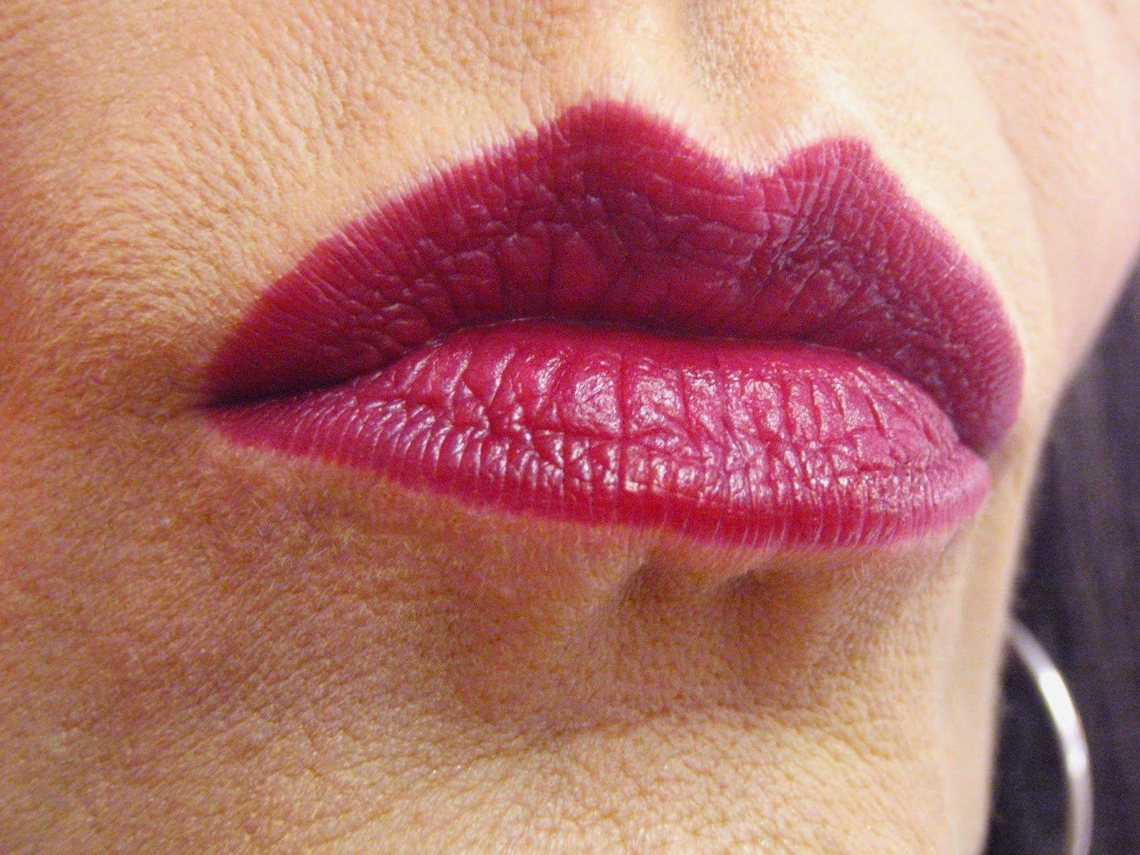 josie maran lipstain on lips