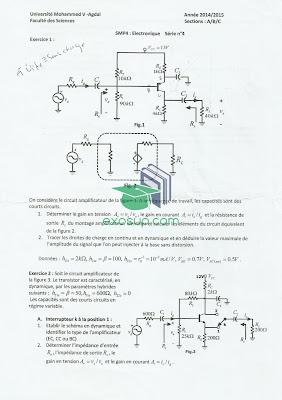 exercices corrigés électronique de base s4