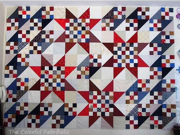 The Colorful Fabriholic Scrappy Nine Patch Stars Qov Tutorial