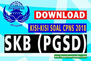 Kisi-Kisi Soal SKB CPNS 2018 Jurusan PGSD