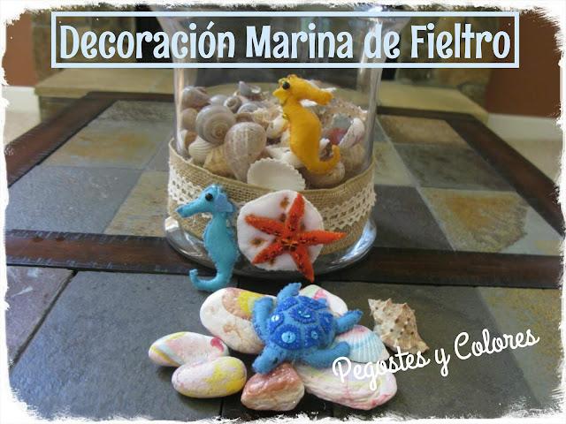 Pegostes y Colores: Decoracion Marina de Fieltro