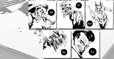 The Joker Letterpress DC Comics Print Set by Jock x Bottleneck Gallery
