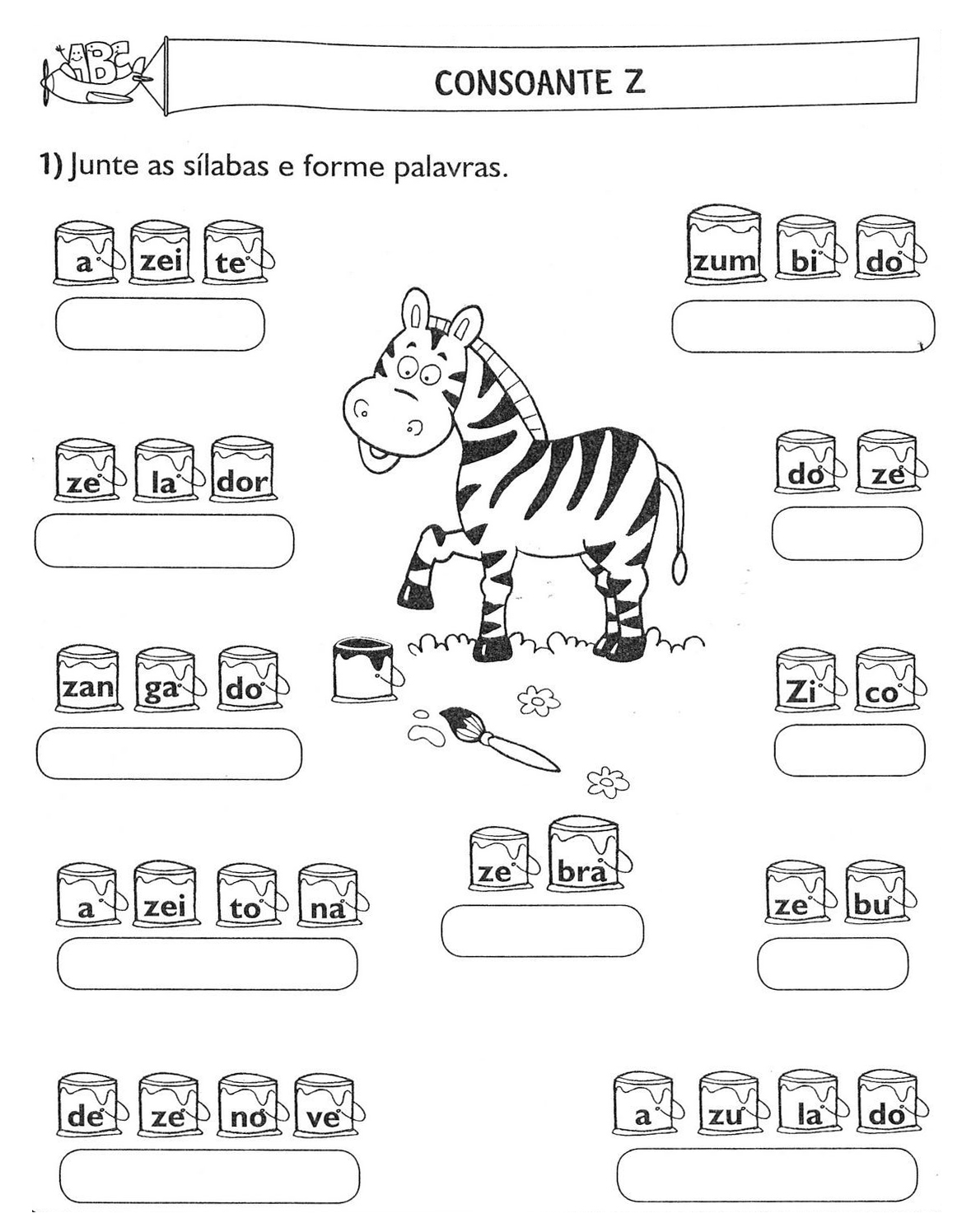 70 atividades de alfabetiza o juntando s labas. Black Bedroom Furniture Sets. Home Design Ideas
