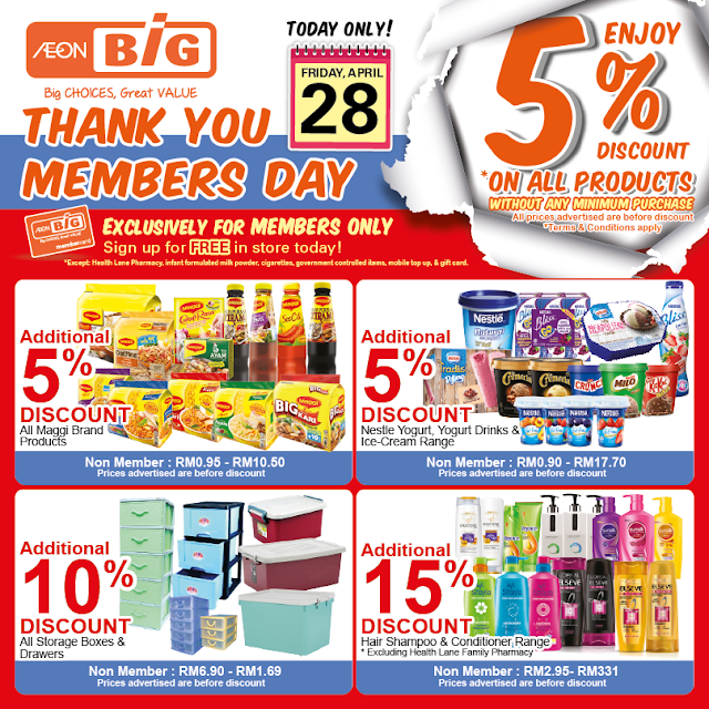 AEON BiG Thank You Members' Day Discount Sale