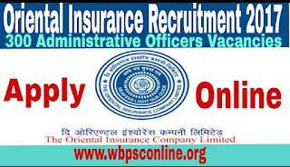 Oriental Insurance Online Recruitment 2017, Apply for 300 Administrative Officer Job - image Oriental%2BInsurance%2BOnline on http://wbpsconline.org