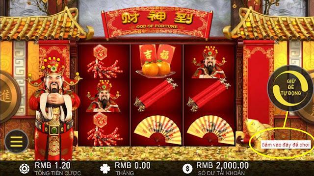Phát tài trong slot God of Fortune tại 12bet casino