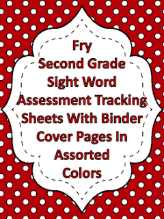 Fry Second Grade Sight Word Tracking Binder