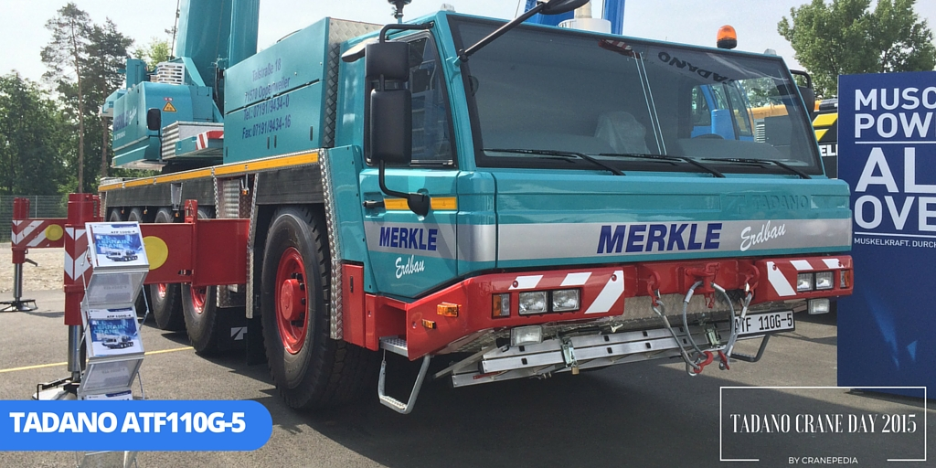 Merkle's ATF110G-5 displayed in Tadano Crane Day 2015