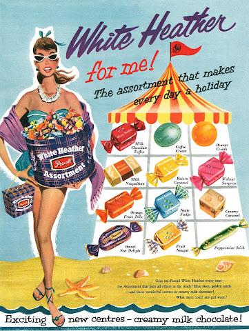 Aubrey Rix - 1957 White Heather Assortment ad