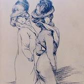 Gervasio Gallardo dibujos belle époque retratos