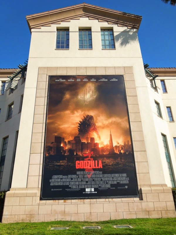 Godzilla movie billboard Warner Bros Studios