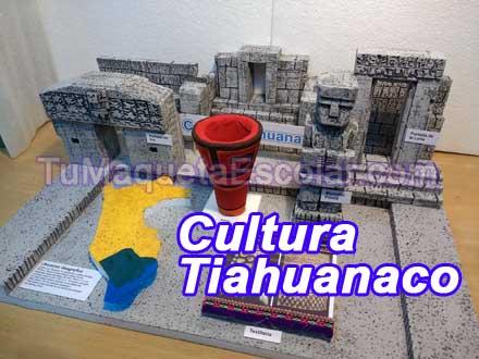 maqueta escolar de la cultura tiahuanaco