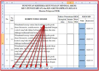KKM Kelas VI Semester I dan II Kurikulum 2013
