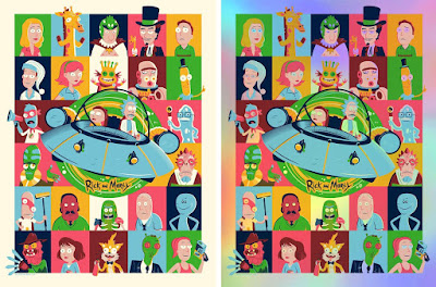 New York Comic Con 2018 Exclusive Rick & Morty Screen Print by Dave Perillo x Bottleneck Gallery