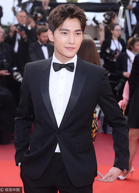 China Entertainment News Chinese Actor Yang Yang Spotted In Cannes
