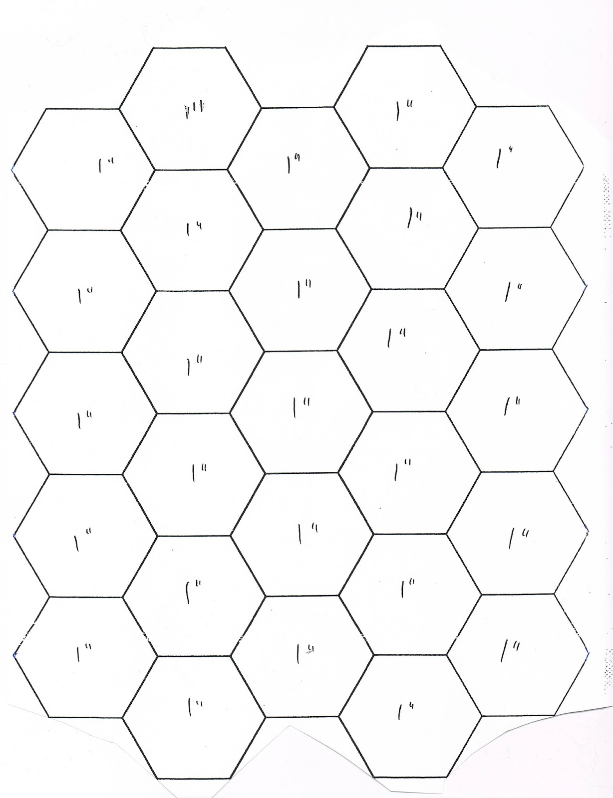 1 5 inch hexagon template - faeries and fibres english paper piecing instructions