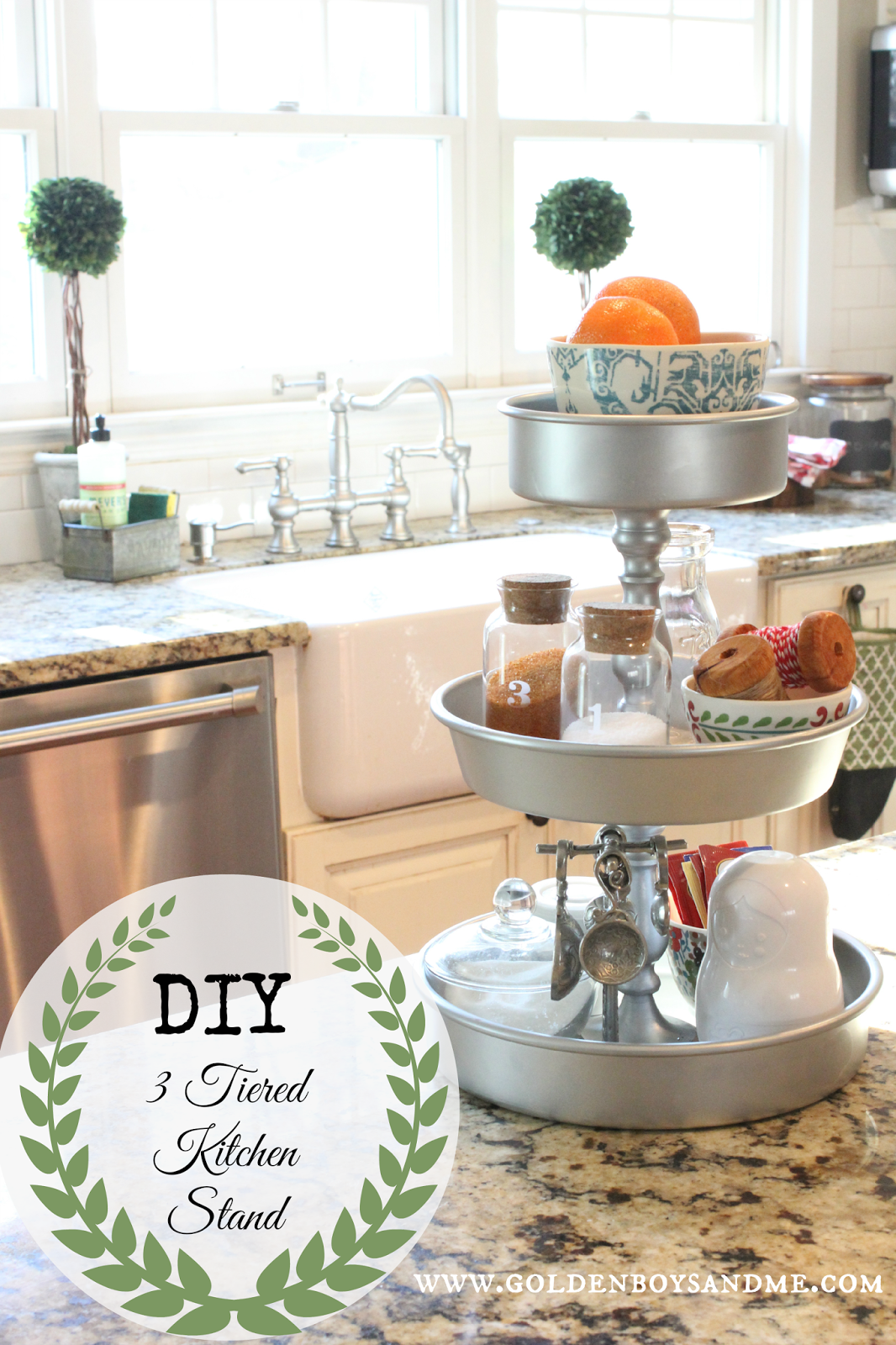 Diy 3 Tiered Kitchen Stand