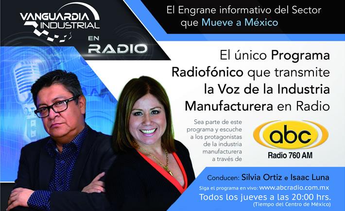 Silvia Ortiz e Isaac Luna, conductores de Radio Vanguardia Industrial. (Arte: Vanguardia Industrial)