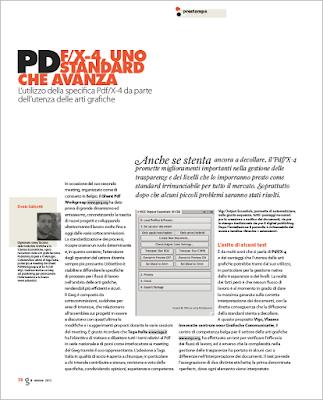 PDF/X-4, uno standard che avanza