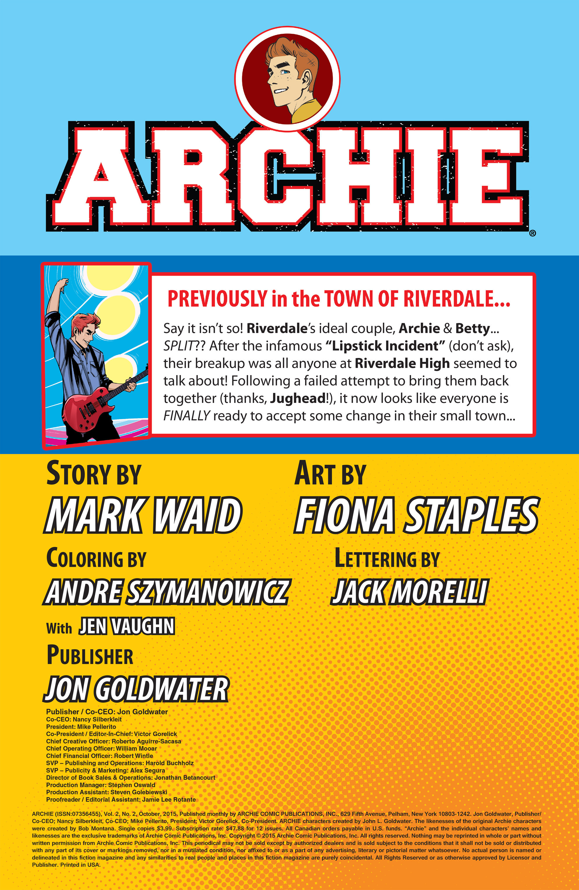 Read online Archie (2015) comic -  Issue #2 - 2