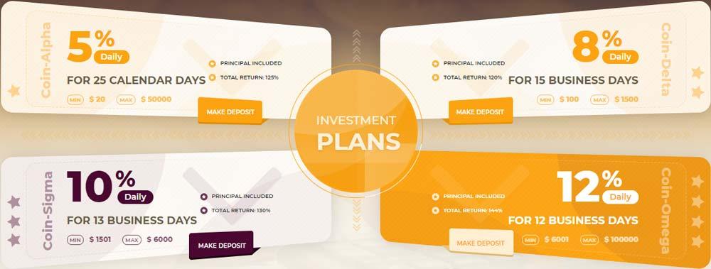 Инвестиционные планы 4Coins