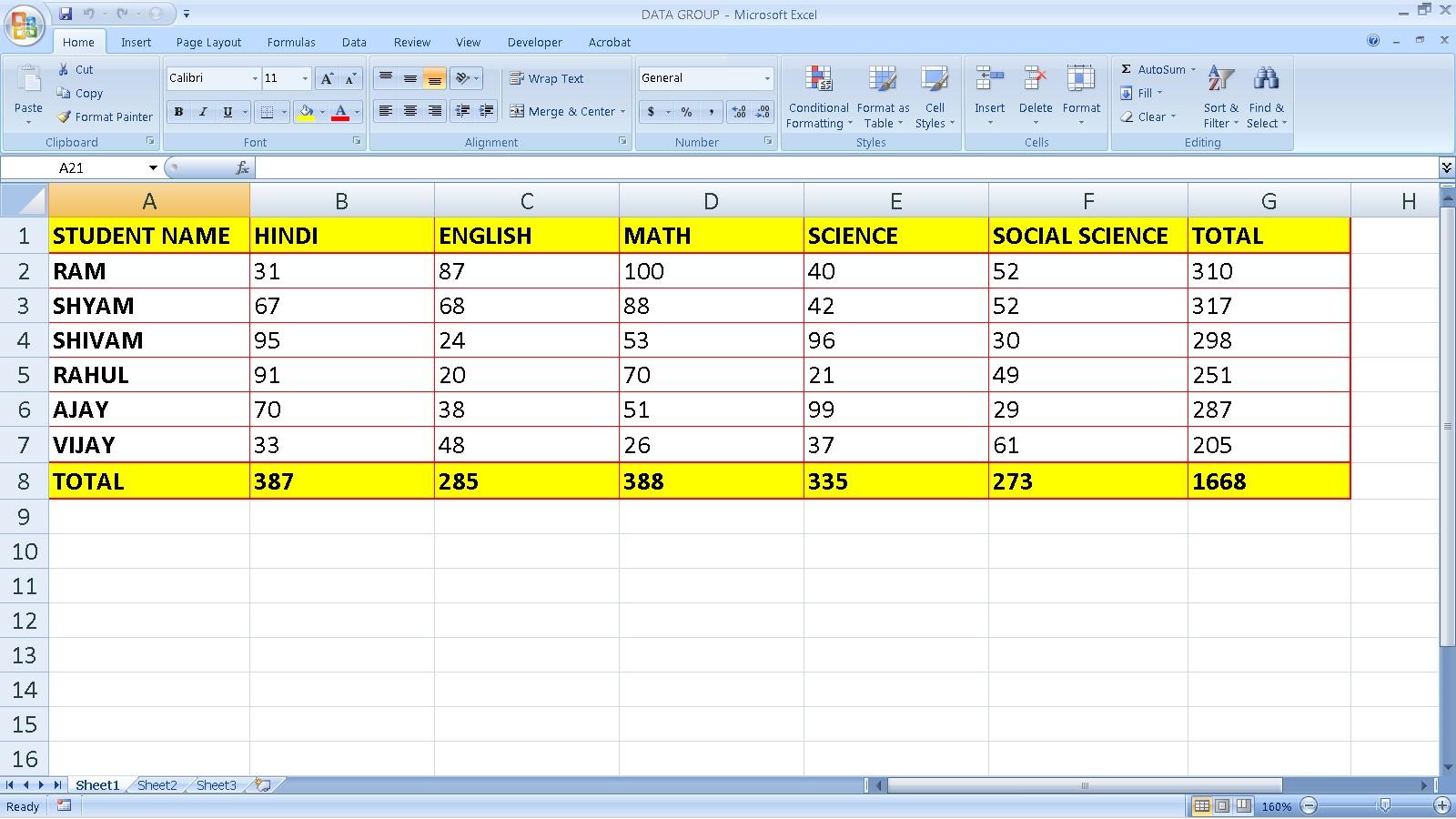 Data Group Ka Use Kaise Kare Advance Excel Me