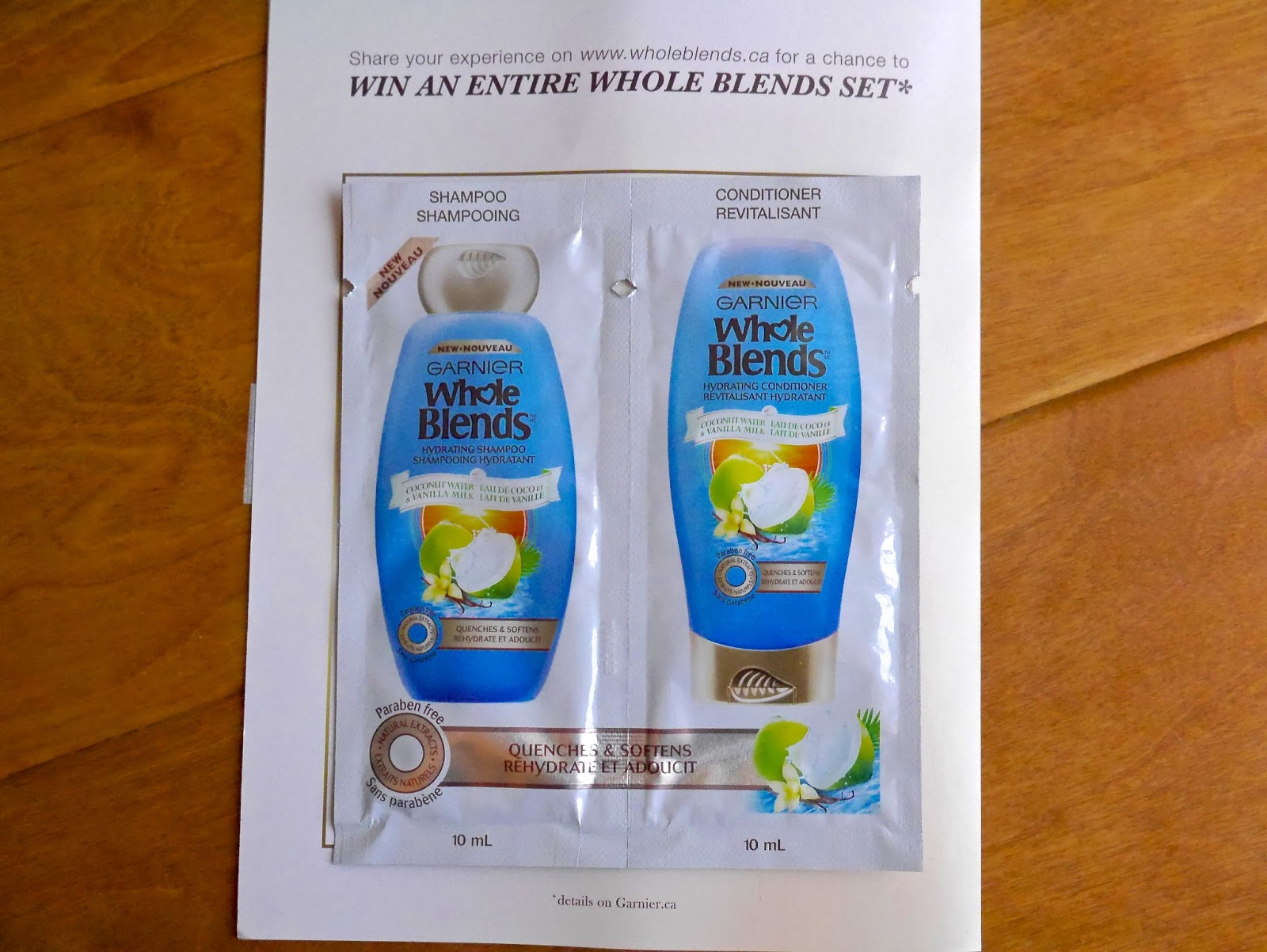 Garnier Whole Blends Coconut Water Vanilla Milk Hydrating Conditioner