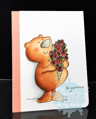 Tiddly Inks, Kecia Waters, copic markers, bear, mother's day