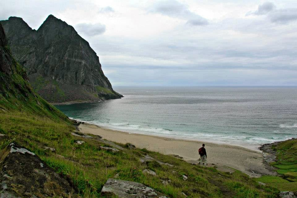 Kvalvika beach, Flakstadoy - Islas Lofoten.