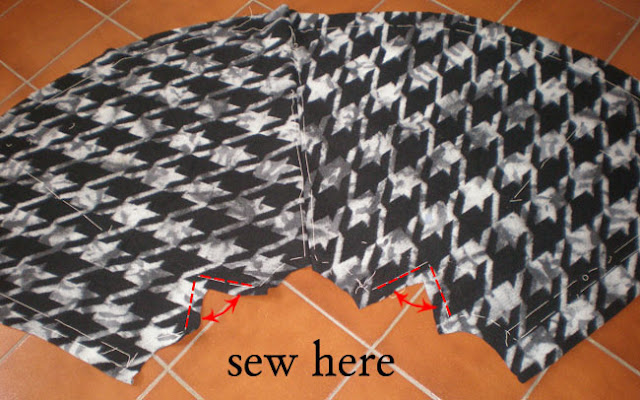 cloth diy, diy, cape coat pattern, free pattern, autumn winter 2011, dogtooth, cape coat diy, fashion DIY