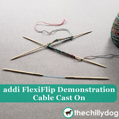 addi FlexiFlip Knitting Needle Demonstration Video Tutorial: How to do the Cable Cast On in the Round