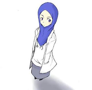 kartun muslimah imut