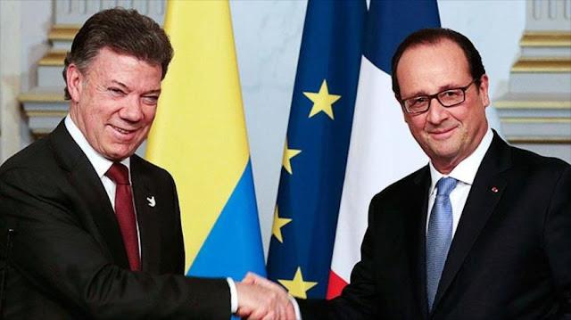 Hollande expresa su total apoyo al presidente de Colombia 